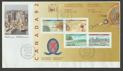 Canada 1992 #1407a World Philatelic Youth Exhibition, Montreal large FDC