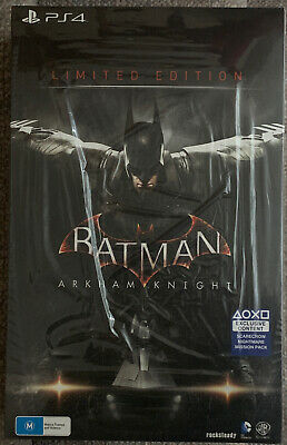 BATMAN ARKHAM KNIGHT LIMITED EDITION PS4 + Red Hood DLC NEW IN BOX! PlayStation