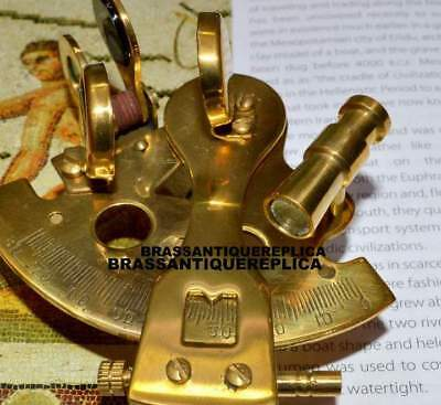 FULL BRASS German Brass Marine Antique Nautical Sextant Collectible Gift