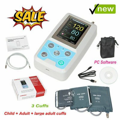 FDA CONTEC Ambulatory Blood Pressure Monitor+USB Software,24h NIBP Holter ABPM50