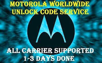 NEW MOTOROLA WORLDWIDE UNLOCK CODE SERVICE FAST ALL CARRIER 1 - 24 Hours