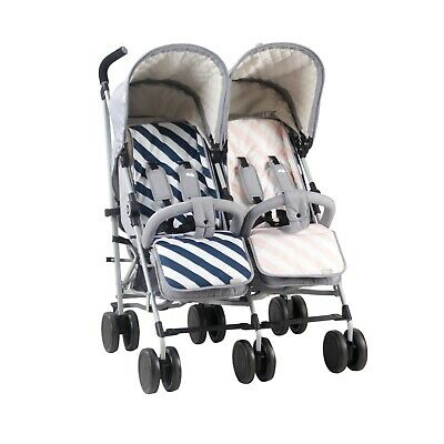 My Babiie MB22 Twin Stroller - With Reversable Seat Liners