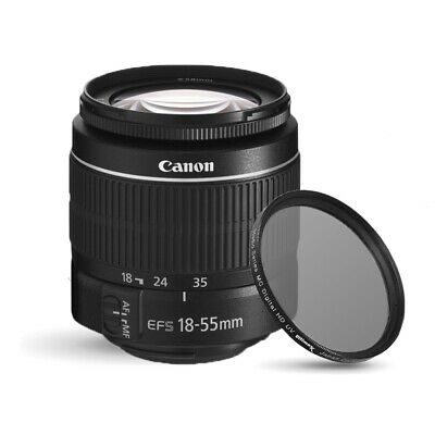 Canon EF-S 18-55mm f/3.5-5.6 III Standard Zoom Lens + UV Ultraviolet Filter