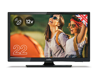 "CELLO 22"" inch 12 volt LED TV FREEVIEW HD 1080P  2 HDMI 2 USB 12v CARAVAN TV"