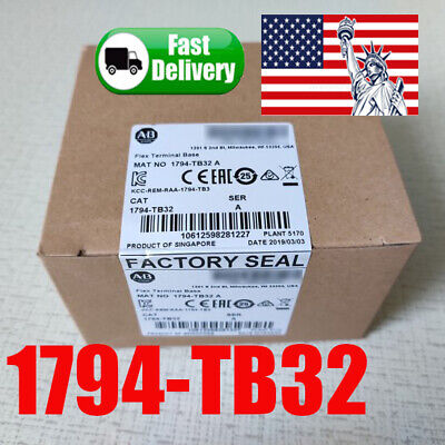 2019 Sealed Allen-Bradley Flex I/O 1794-TB32 /A Terminal Base Unit f 32PT Module