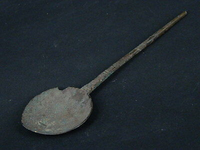 Ancient Large size Bronze Spoon Islamic 1200 AD #S3401