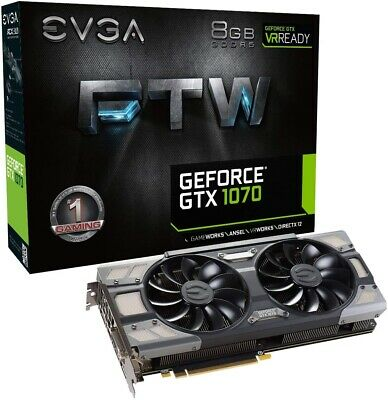 EVGA GeForce GTX 1070 FTW GAMING 8GB GDDR5 VR Ready Graphics Card