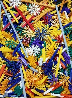 K/'NEX 500 WHITE RODS Standard Size Replacement KNEX Parts and Pieces
