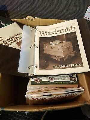 Lot of 100 issues of Woodsmith magazine