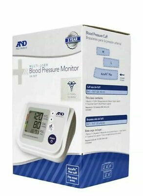 NEW A&D Medical Blood Pressure Monitor w/ AccuFit Plus Cuff UA-767F 4 USERS