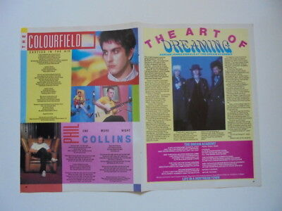 The Colourfield Phil Collins Dream Academy Tears for Fears clippings UK England