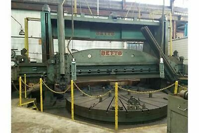 "Betts 20'Bridge 84""Ram Stroke Vertical Boring Mill W/16'Table & 4 Movable Jaws"