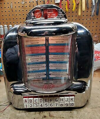 Seeburg 3W1 Jukebox Wallbox Restored Excellent Rechromed - Stock #5863