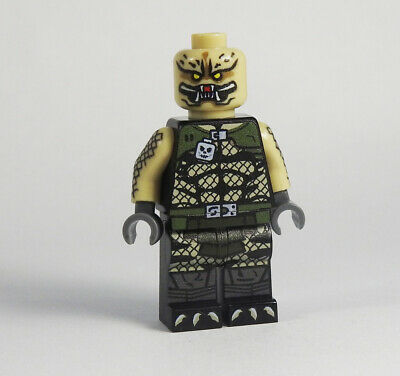 Custom Predator head tan Super heroes minifigures movie on lego bricks
