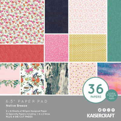 "KAISERCRAFT Scrapbooking Paper Pads - 6.5"" - Native Breeze - PP1084"