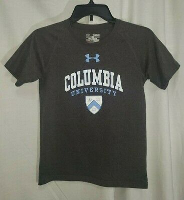 Under Armour Columbia University Youth Size Medium Loose Heat Gear Gray Shirt