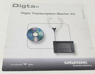 Grundig PFR7350 Digta Transcription Starter Kit Pro