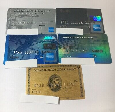 5 Expired Credit Cards For Collectors - American Express Lot (7086)