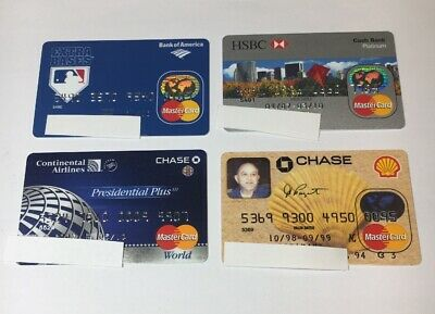4 Expired Credit Cards For Collectors - MasterCard Lot (7087)