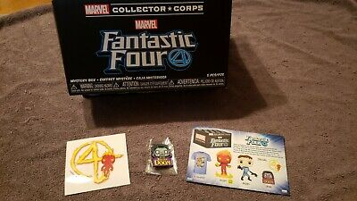 Funko Pop Marvel Collector Corps Fantastic Four Dr. Doom Pin Decal Collector Box