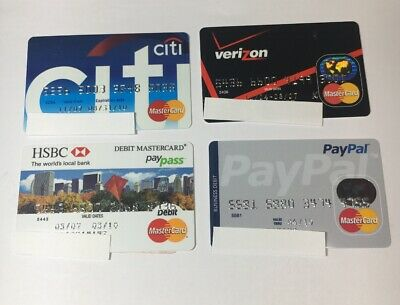 4 Expired Credit Cards For Collectors - MasterCard Lot (7088)