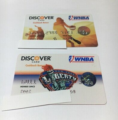 2 Expired Credit Cards For Collectors - WNBA Discover Lot (7089)