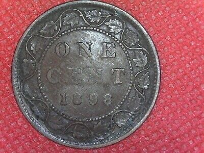 1898 Copper Canadian Large Cent Coin 1-Cent Canada