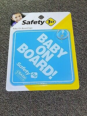 Blue Baby On Board Safety 1st Suction Cup Car Sign