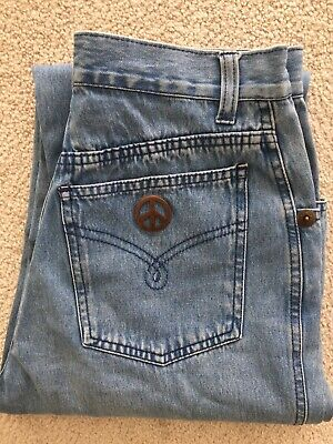 Women's Vintage MOSCHINO Blue High Waisted Denim Jeans S