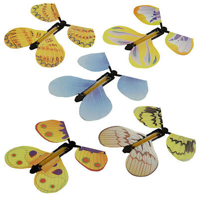5Pcs Magic Creative Flying Butterfly Change From Empty Hands Trick Prop Toy Game
