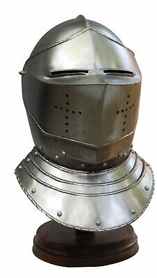 Helm Medieval Greek With Armor Larp Helmet Finish Sammlerstück