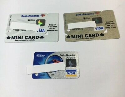 3 Expired Credit Cards For Collectors - Visa Mini Keychain Cards Lot (7095)