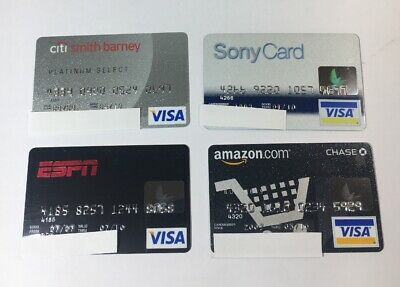 4 Expired Credit Cards For Collectors - Visa Random Collection Pulls Lot (7096)
