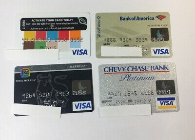 4 Expired Credit Cards For Collectors - Visa Random Collection Pulls Lot (7097)