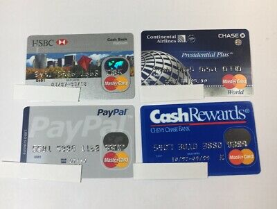4 Expired Credit Cards For Collectors -  Mastercard Lot (7104)
