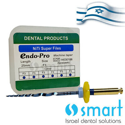 Dental NiTi rotary Endo thermal heat activation Super File ENDO PROTAPERED F3