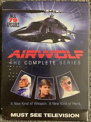 New Airwolf The Complete Series Dvd 14 Disc Set + Slipbox Free World Shipping