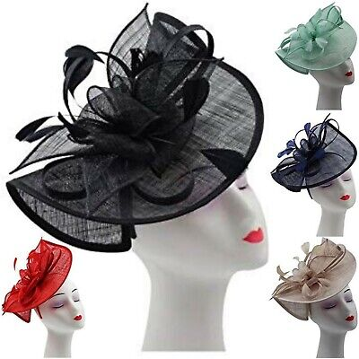 Women's Ladies Headband Alice band Hat Fascinator Weddings Day Race Royal Ascot