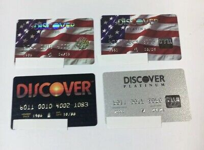 4 Expired Credit Cards For Collectors -  Discover Card Lot (7105)