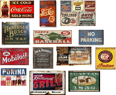 LARGE SHEET O SCALE WEATHERED FADED BUILDING SIGN DECALS #10