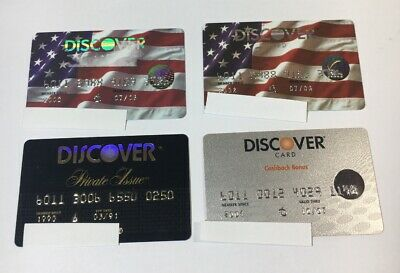 4 Expired Credit Cards For Collectors -  Discover Card Lot (7107)