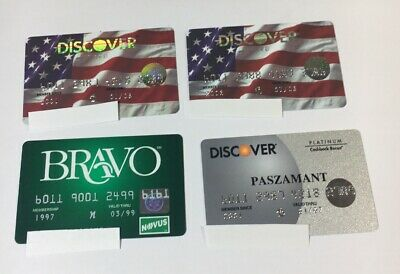 4 Expired Credit Cards For Collectors -  Discover Card Lot (7108)