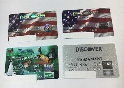 4 Expired Credit Cards For Collectors -  Discover Card Lot (7109)