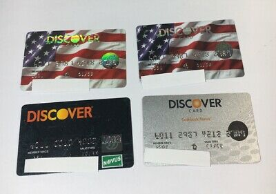 4 Expired Credit Cards For Collectors -  Discover Card Lot (7111)