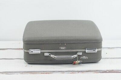 Vintage American Tourister Large Size Suitcase Luggage Dark Gray EXC Cond. Key