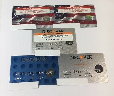 5 Expired Credit Cards For Collectors -  Discover Card Lot (7112)