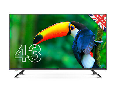 """CELLO 43"""" INCH FULL HD LED TV FREEVIEW HD, 3 x HDMI & USB. 2020 MODEL MADE IN UK"""
