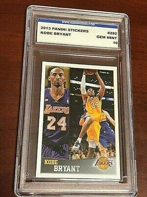 KOBE BRYANT 2013-14 Panini Album Stickers #282 Graded IGS 10 Gem Mint LAKERS