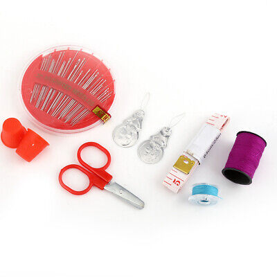 Practical Sewing Kit Include Measure Tap Scissors Thimble Thread Needle for Home