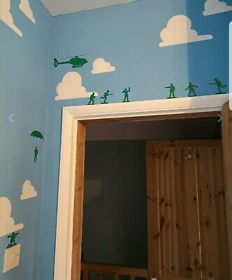 barrel monkey wall stickers Toy Story Inspired Themed  boy girl bedroom